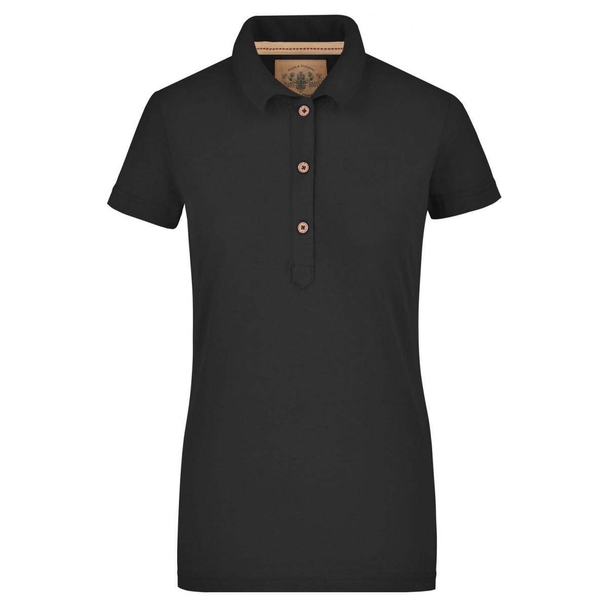 Рубашка поло женская JN940 Ladies Vintage Polo - Черный