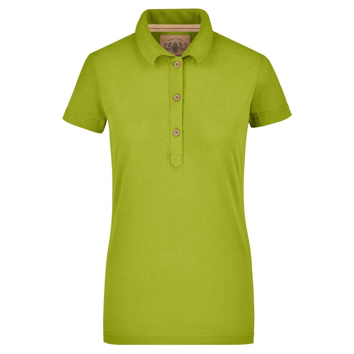 Рубашка поло женская JN940 Ladies Vintage Polo - Лайм