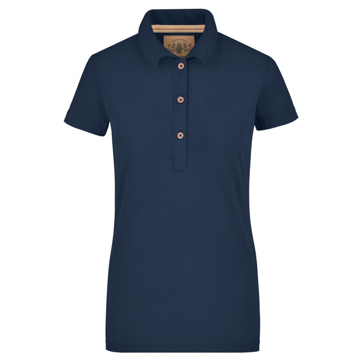 Рубашка поло женская JN940 Ladies Vintage Polo - Темно-синий