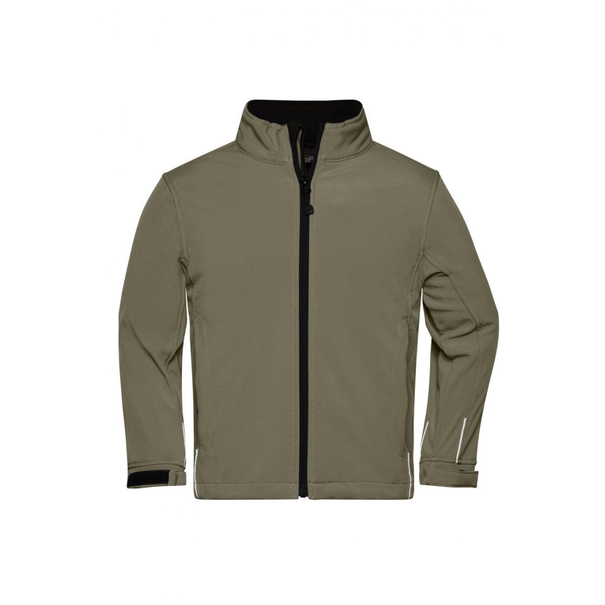 Куртка детская JN135K Softshell Jacket Junior - Оливковый