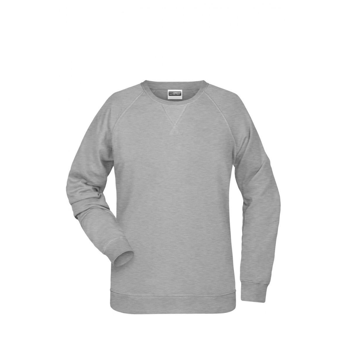 Толстовка женская 8021 Ladies Sweat - Серый меланж