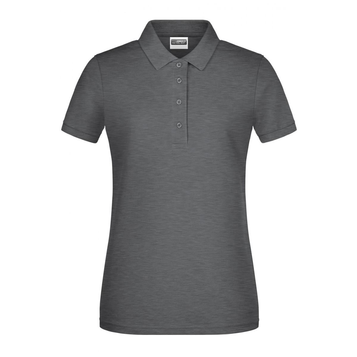 Рубашка поло женская 8009 Ladies Basic Polo - Черный меланж