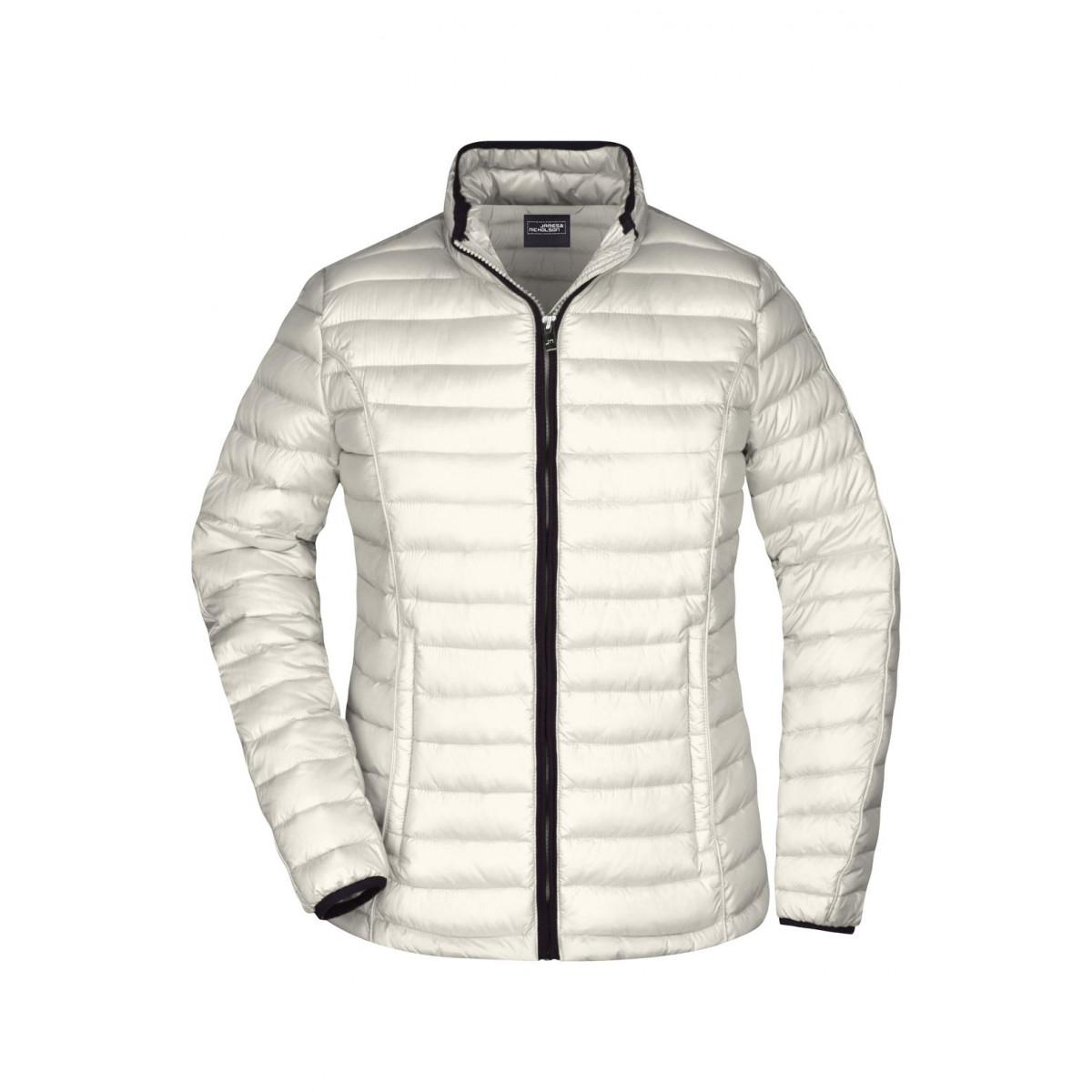 Куртка женская JN1081 Ladies Quilted Down Jacket - Белый/Черный