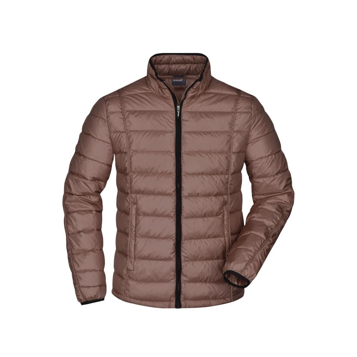 Куртка мужская JN1082 Mens Quilted Down Jacket - Коричневый/Черный