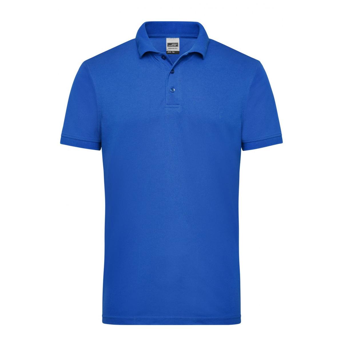 Рубашка поло мужская JN830 Mens Workwear Polo - Ярко-синий