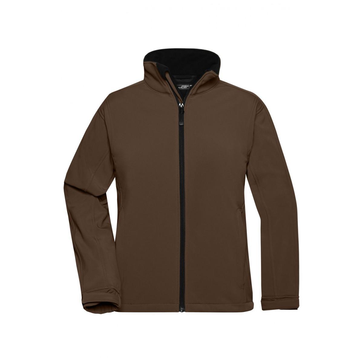 Куртка женская JN137 Ladies Softshell Jacket - Коричневый