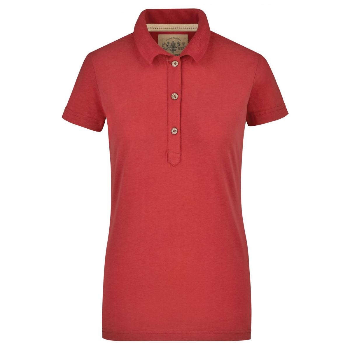 Рубашка поло женская JN940 Ladies Vintage Polo - Красный