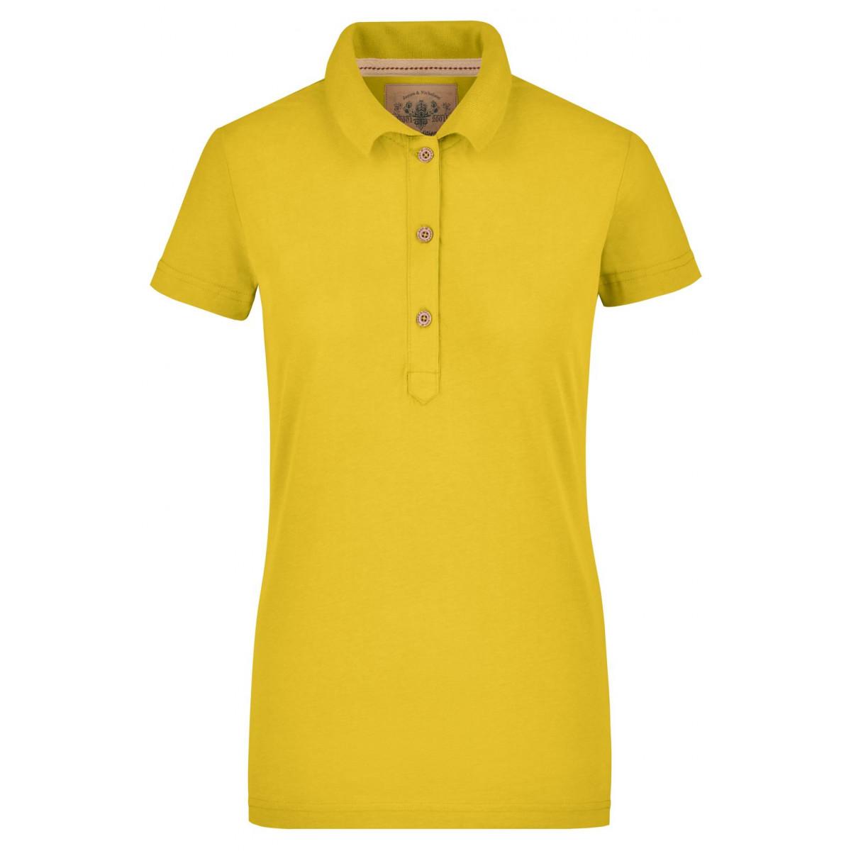 Рубашка поло женская JN940 Ladies Vintage Polo - Ярко-желтый