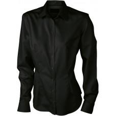 Рубашка женская JN615 Ladies' Long-Sleeved Blouse - Черный
