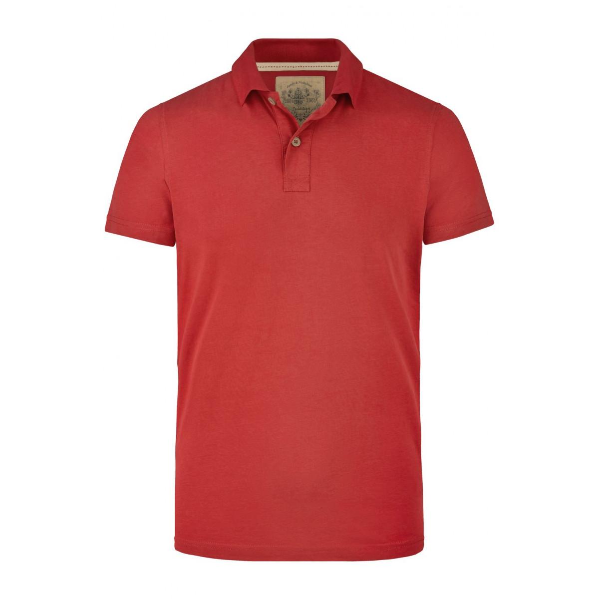 Рубашка поло мужская JN941 Mens Vintage Polo - Красный