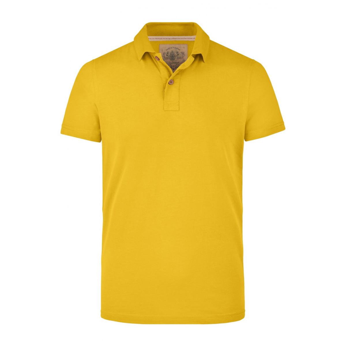 Рубашка поло мужская JN941 Mens Vintage Polo - Ярко-желтый