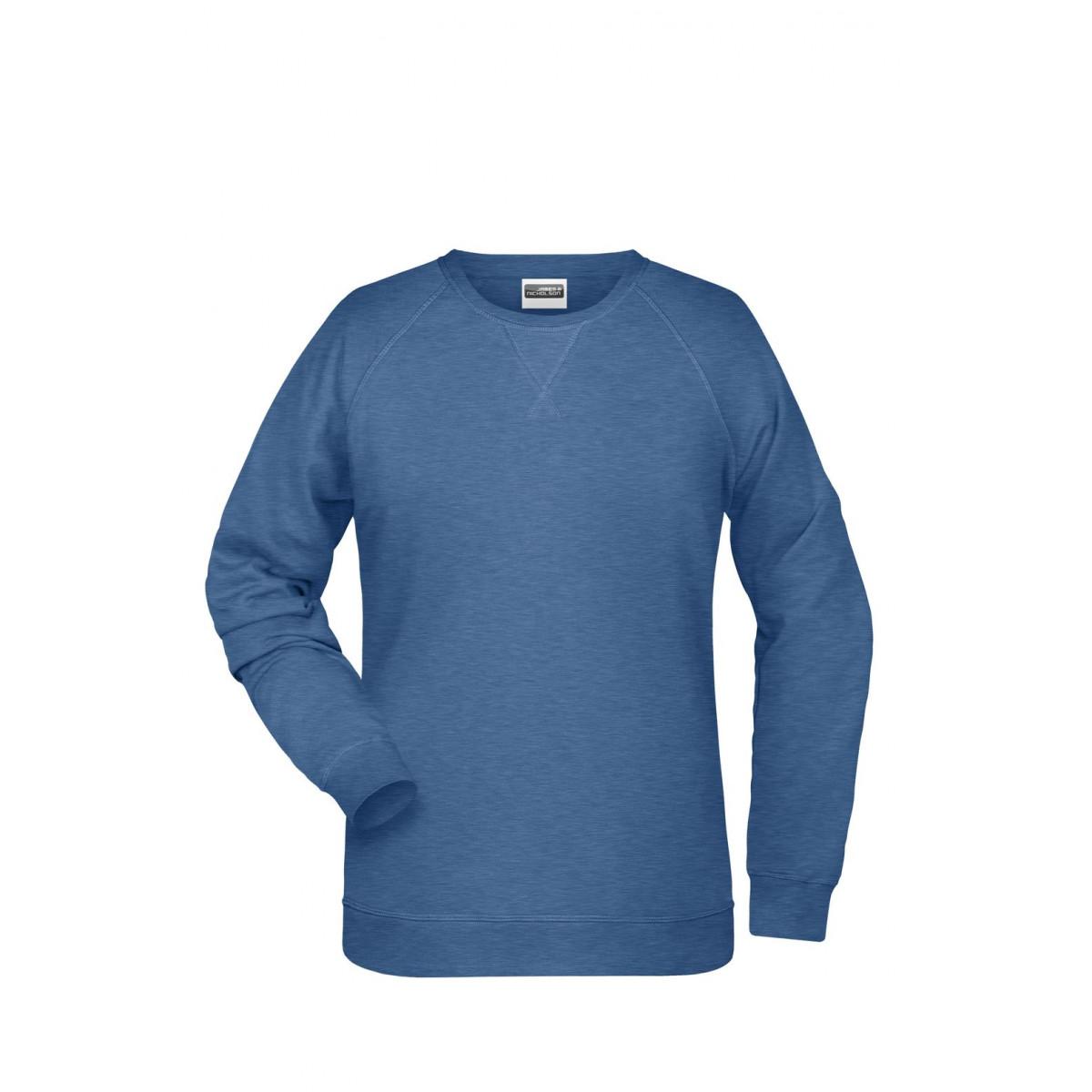 Толстовка женская 8021 Ladies Sweat - Светло-синий меланж