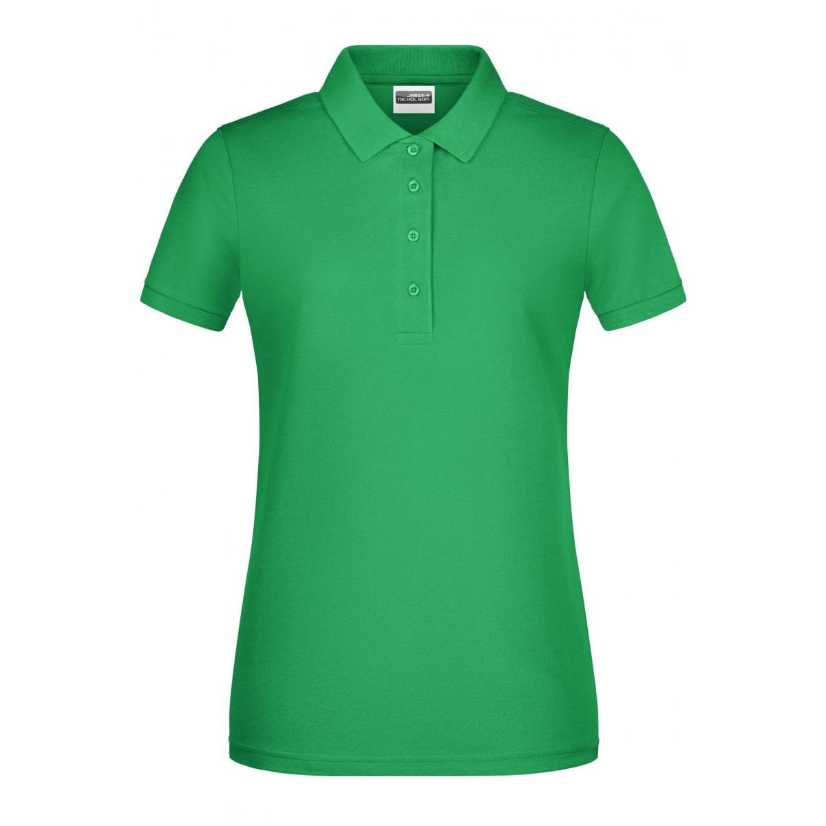 Рубашка поло женская 8009 Ladies Basic Polo - Насыщенный зеленый
