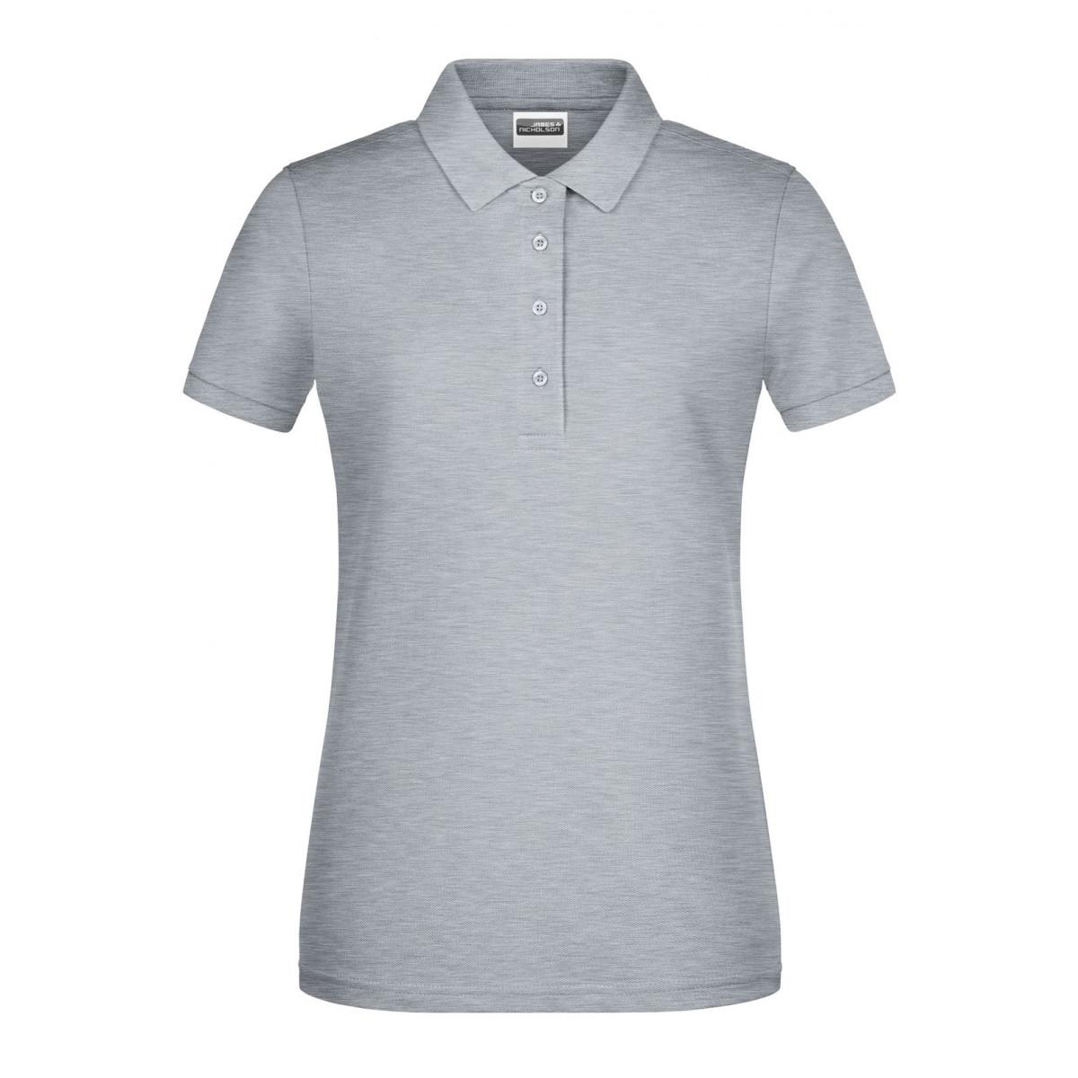 Рубашка поло женская 8009 Ladies Basic Polo - Серый меланж
