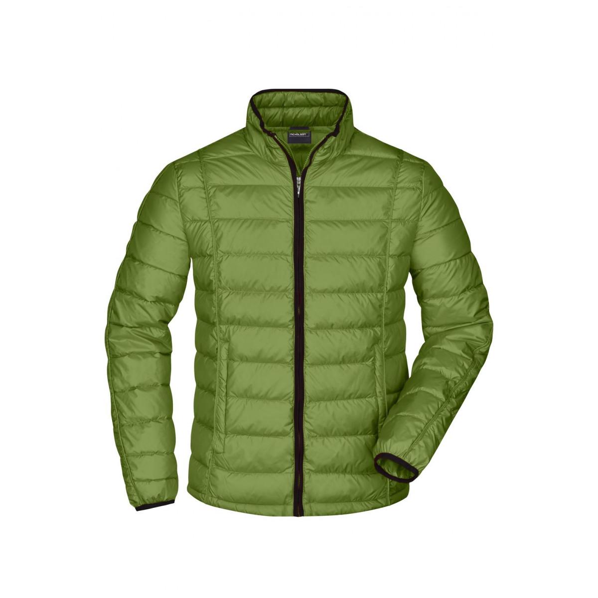 Куртка мужская JN1082 Mens Quilted Down Jacket - Насыщенный зеленый/Черный