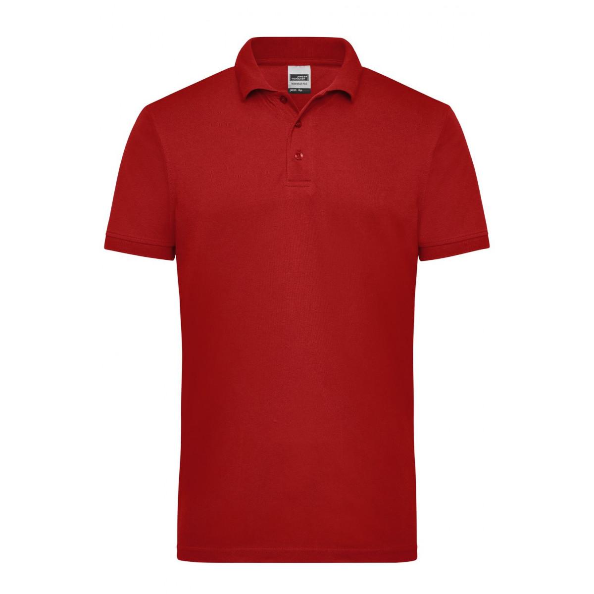 Рубашка поло мужская JN830 Mens Workwear Polo - Бордовый