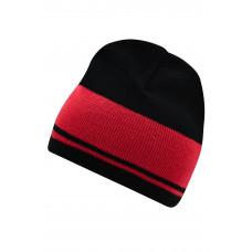 Шапка MB7130 Knitted Beanie - Черный/Бордовый