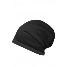 Шапка MB7131 Fleece Beanie - Черный/Темно-серый