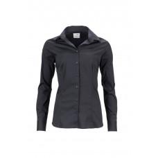Рубашка женская JN645 Ladies' Shirt Slim Fit - Черный