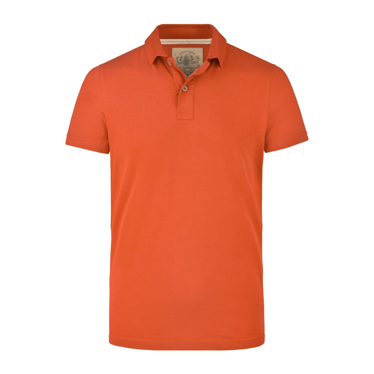 Рубашка поло мужская JN941 Mens Vintage Polo - Темно-оранжевый
