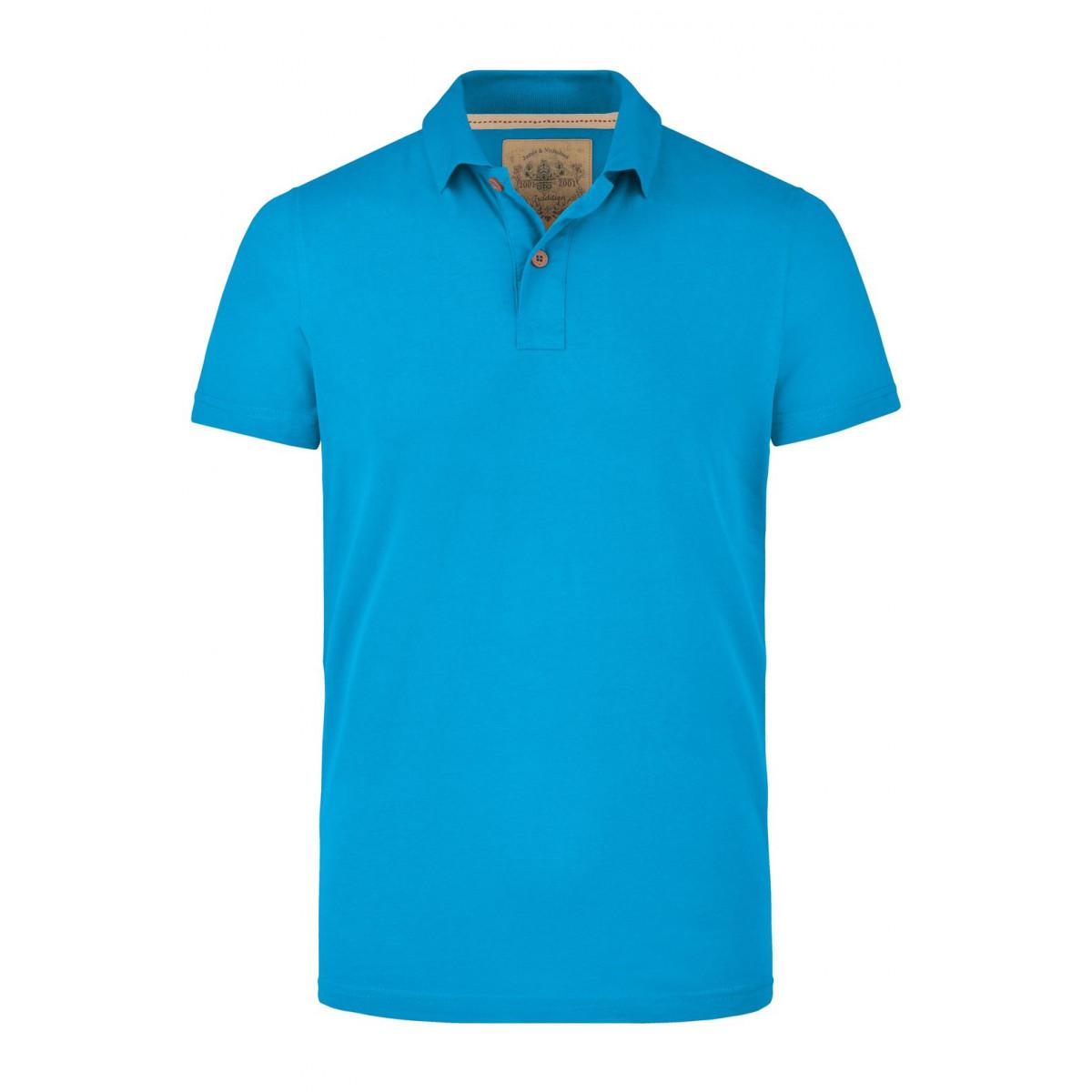 Рубашка поло мужская JN941 Mens Vintage Polo - Бирюзовый