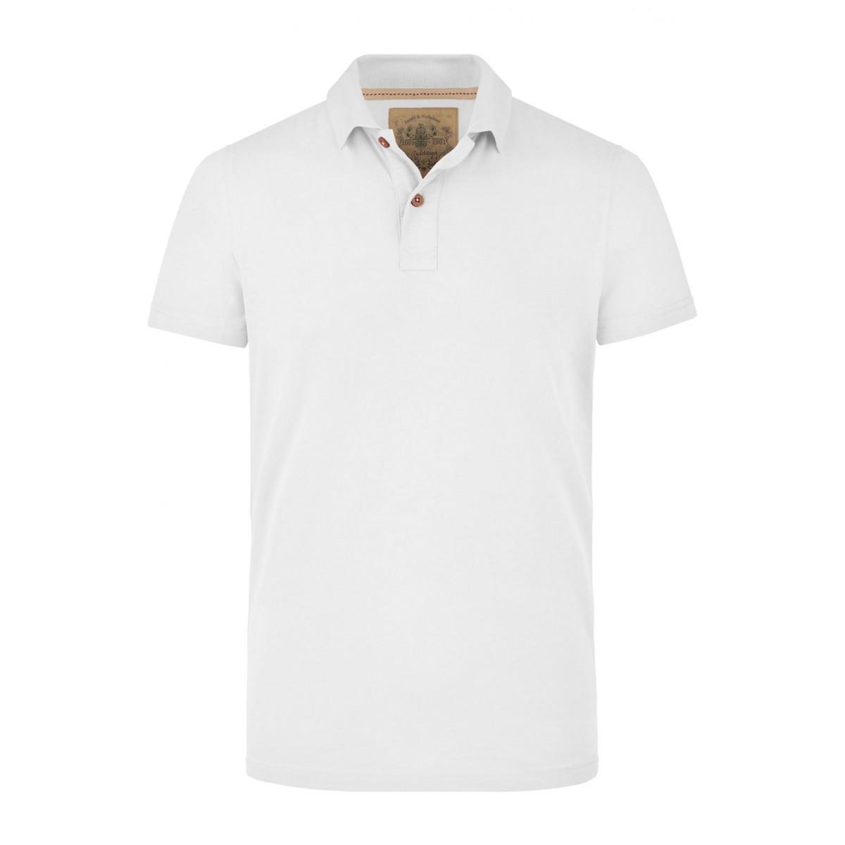 Рубашка поло мужская JN941 Mens Vintage Polo - Белый