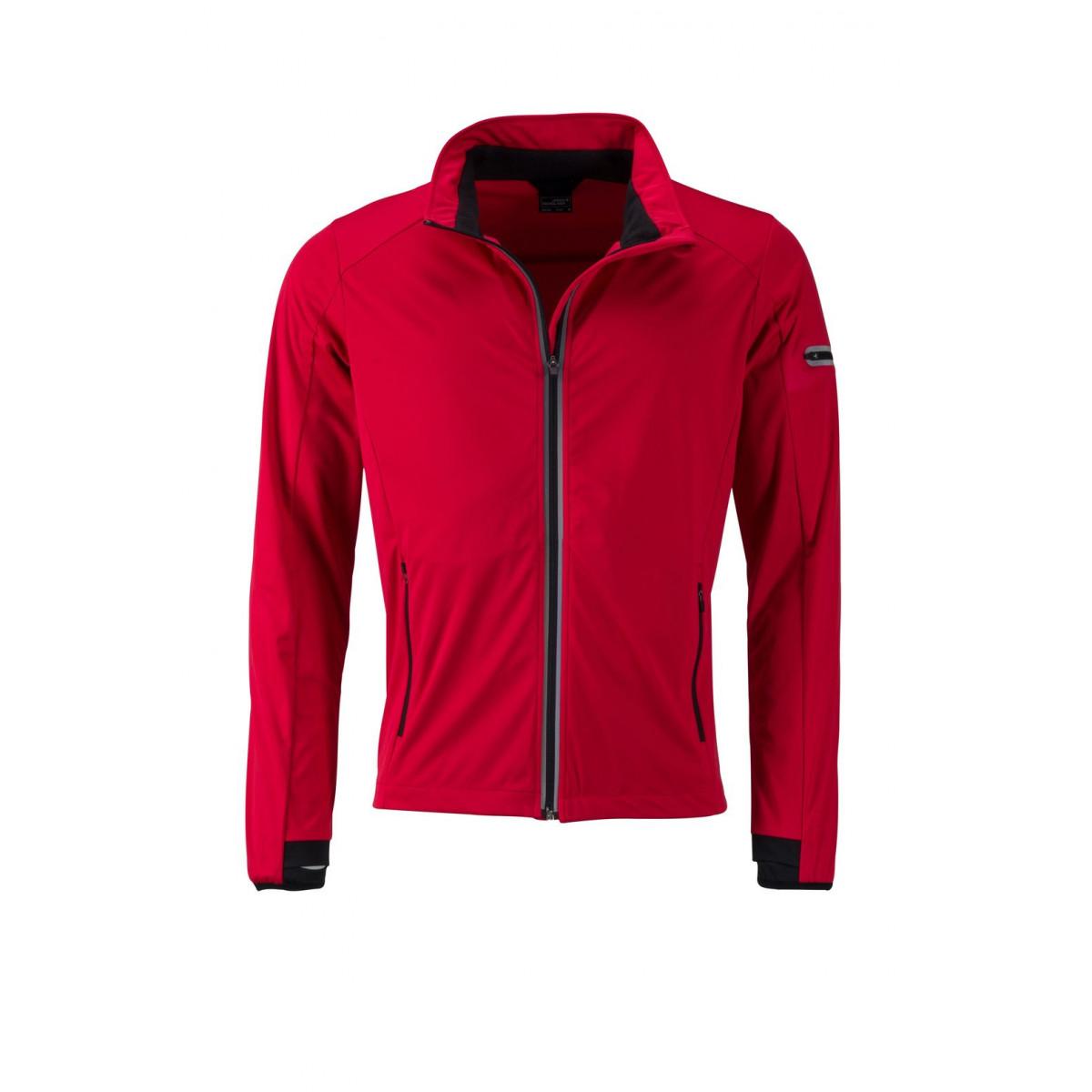 Куртка мужская JN1126 Mens Sports Softshell Jacket - Светло-красный/Черный