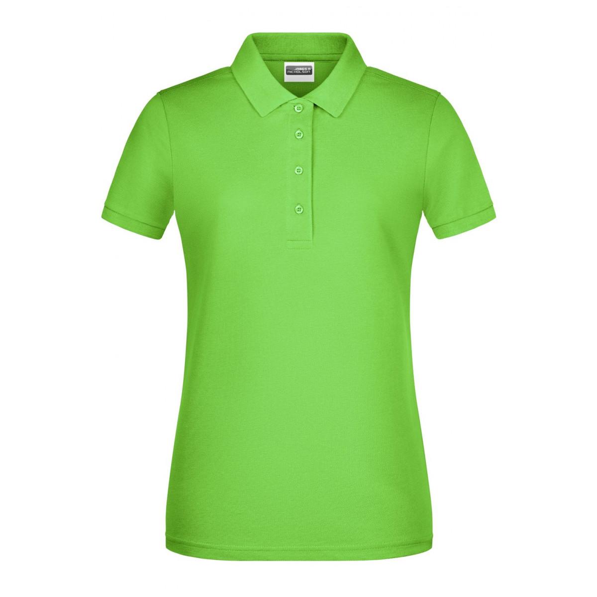 Рубашка поло женская 8009 Ladies Basic Polo - Лайм