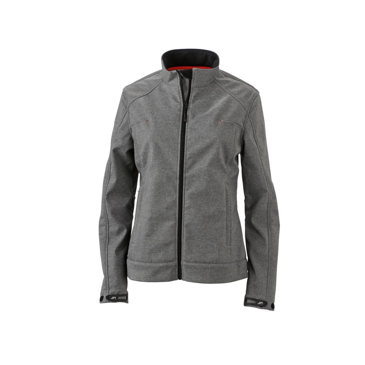 Куртка женская JN1087 Ladies Softshell Jacket - Светло-серый меланж