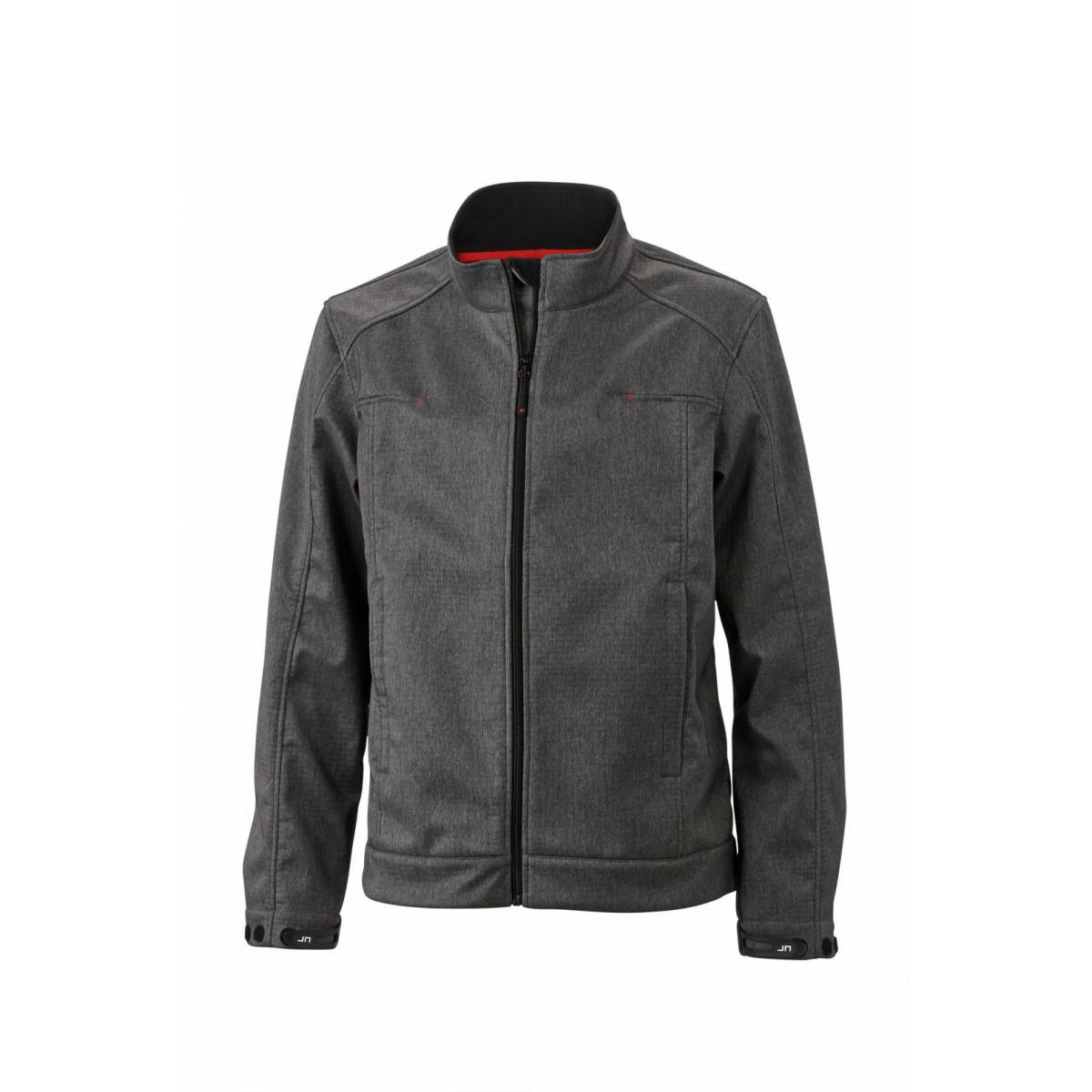 Куртка мужская JN1088 Mens Softshell Jacket - Темно-серый меланж