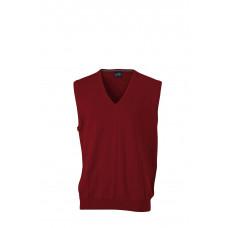 Жилет вязаный мужской JN657 Men's V-Neck Pullunder - Бордовый