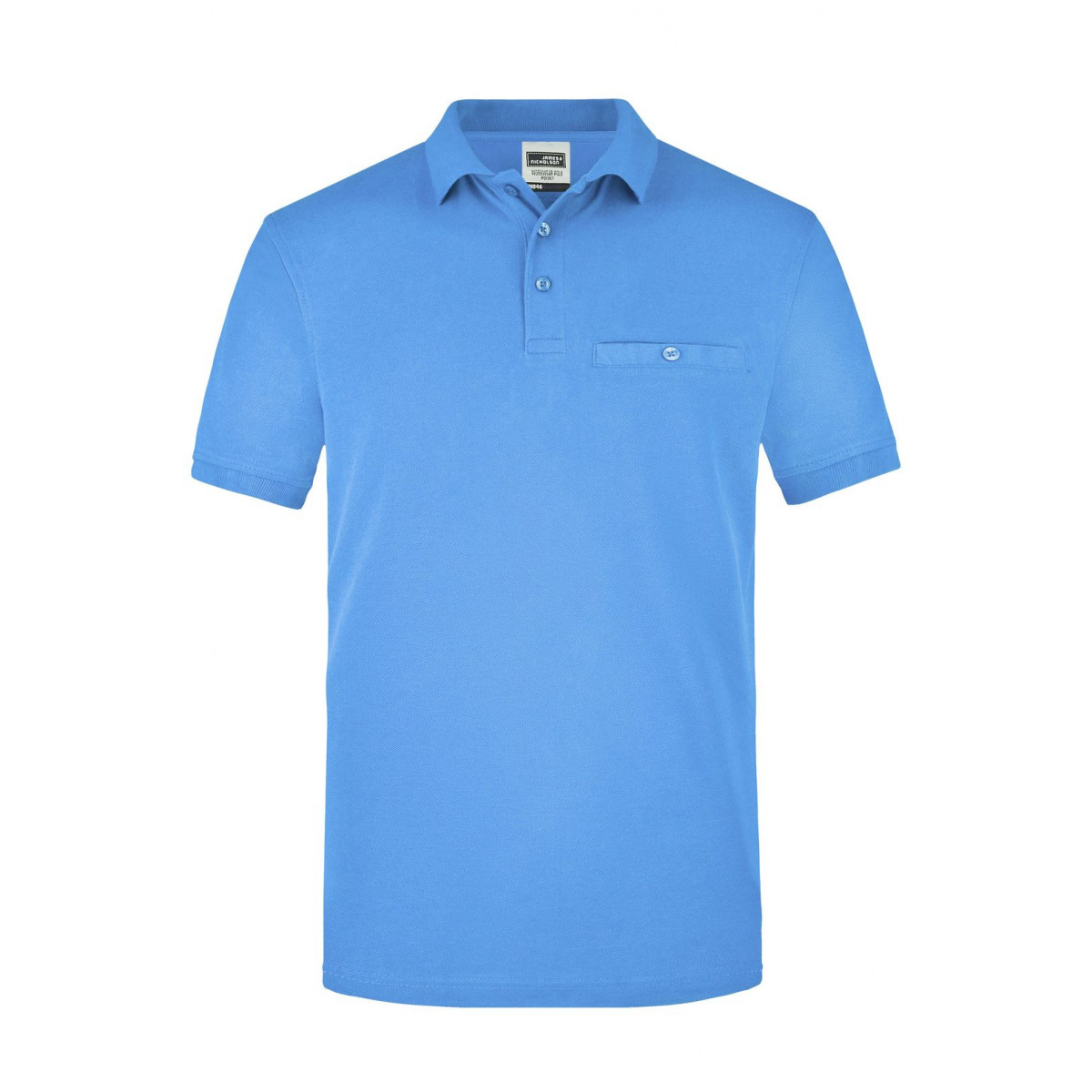 Рубашка поло мужская JN846 Men´s Workwear Polo Pocket - Аква