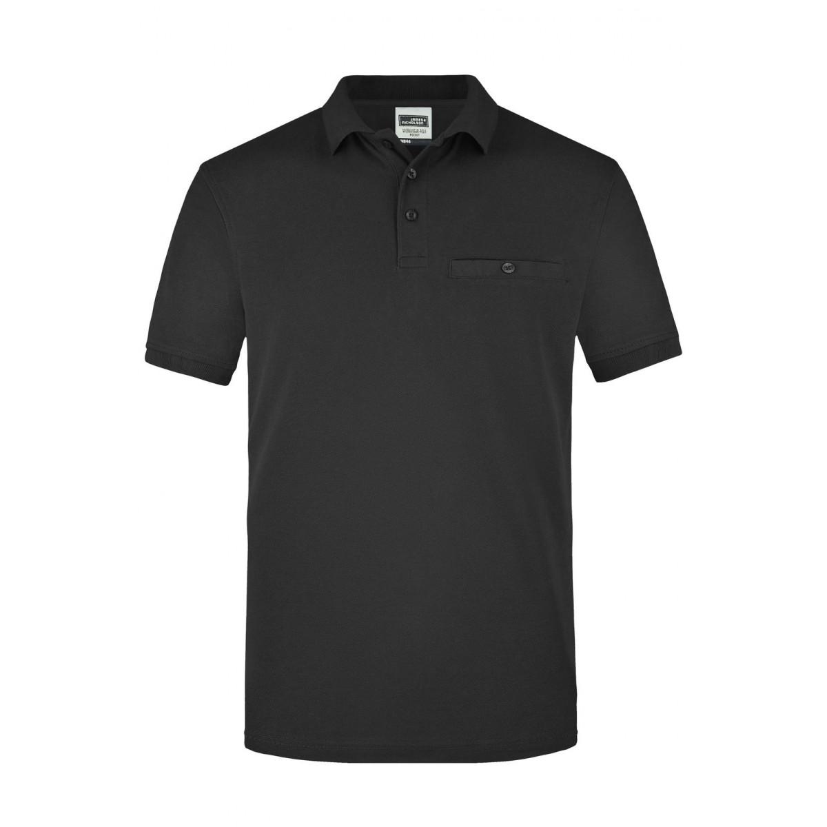 Рубашка поло мужская JN846 Men´s Workwear Polo Pocket - Черный