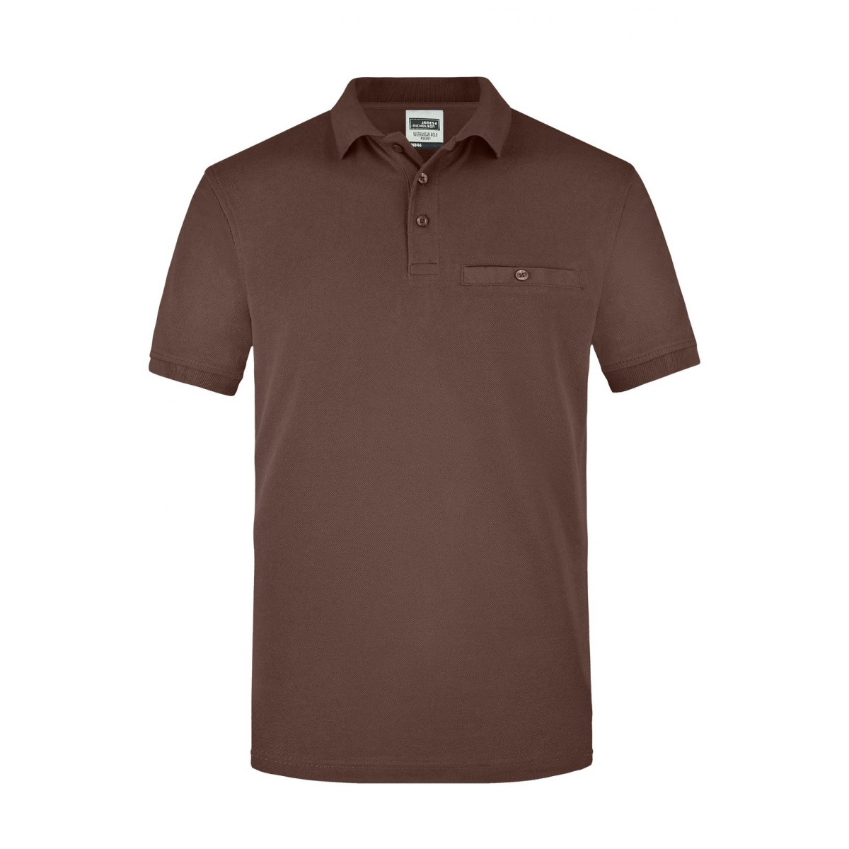 Рубашка поло мужская JN846 Men´s Workwear Polo Pocket - Коричневый
