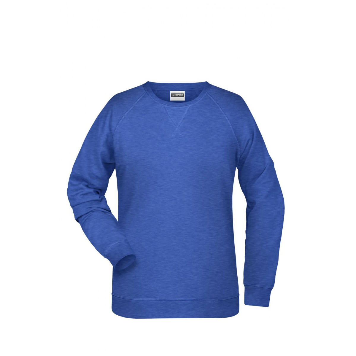 Толстовка женская 8021 Ladies Sweat - Ярко-синий меоанж