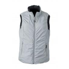 Жилет женский JN1089 Ladies' Lightweight Vest - Черный/Серебряный