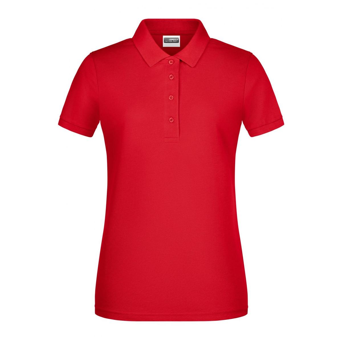 Рубашка поло женская 8009 Ladies Basic Polo - Красный