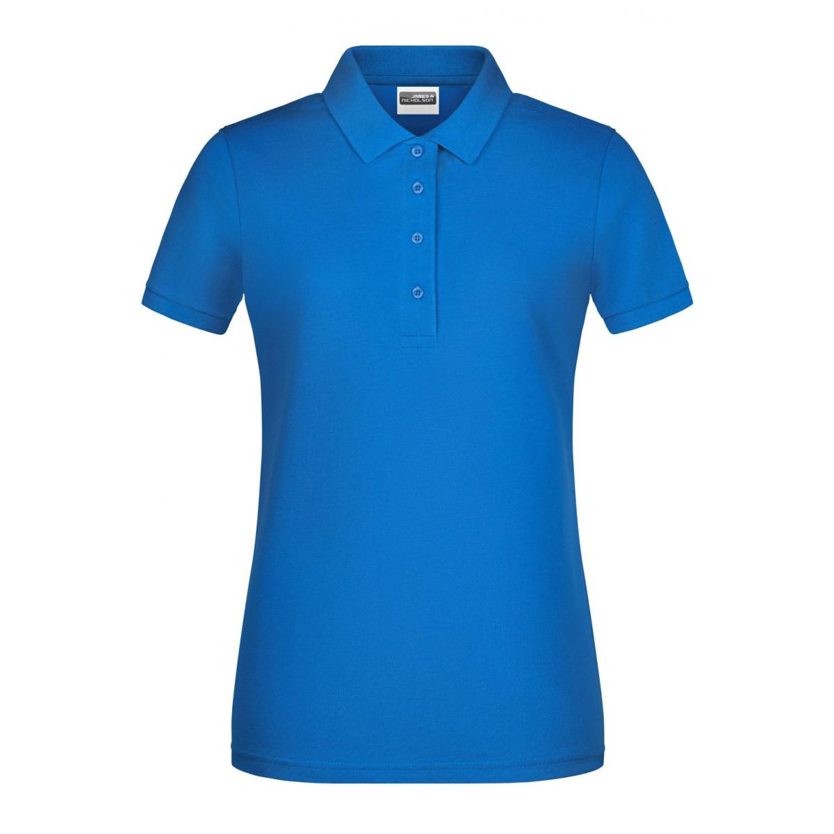 Рубашка поло женская 8009 Ladies Basic Polo - Ярко-синий