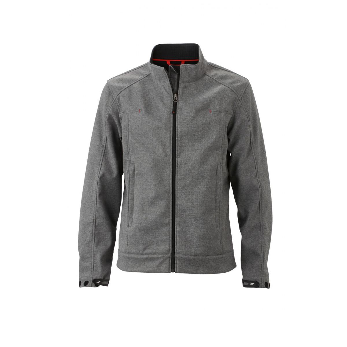 Куртка мужская JN1088 Mens Softshell Jacket - Светло-серый меланж