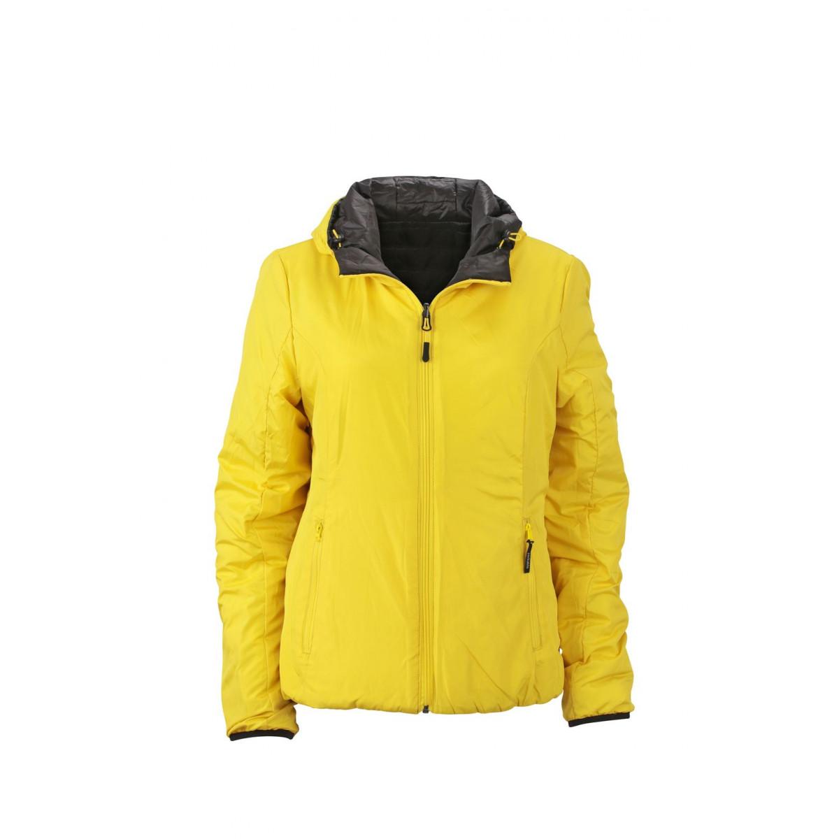 Куртка женская JN1091 Ladies Lightweight Jacket - Черный/Желтый
