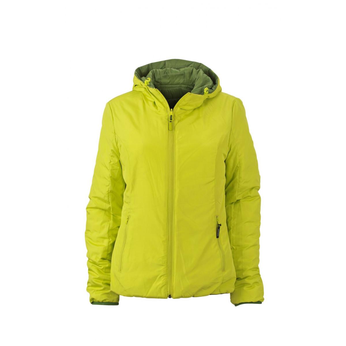 Куртка женская JN1091 Ladies Lightweight Jacket - Насыщенный зеленый/Ярко-желтый