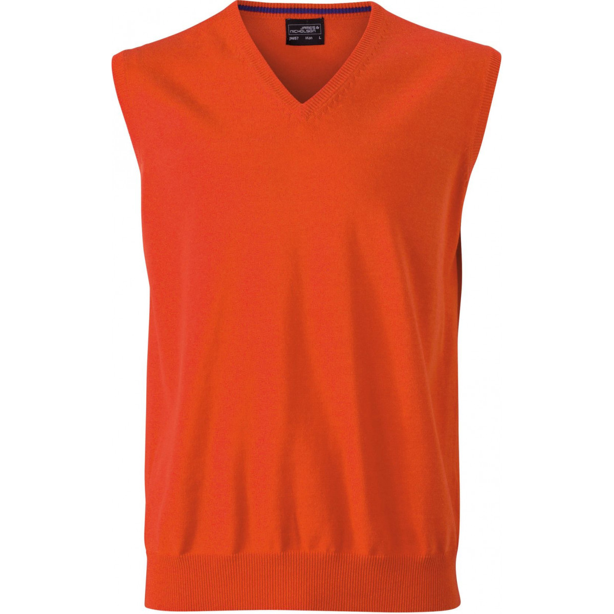 Жилет вязаный мужской JN657 Mens V-Neck Pullunder - Темно-оранжевый