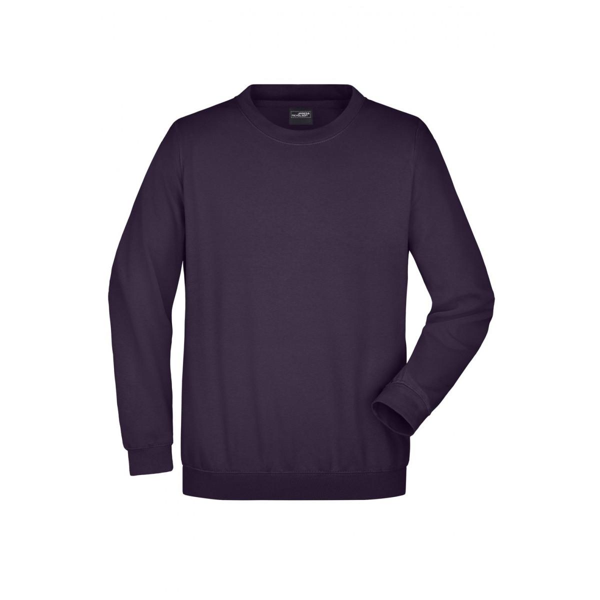 Толстовка мужская JN040 Round Sweat Heavy - Темно-фиолетовый