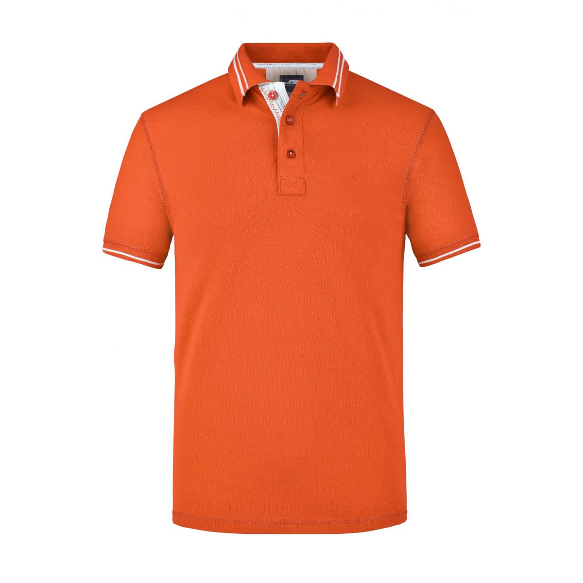 Рубашка поло мужская JN947 Mens Lifestyle Polo - Темно-оранжевый/Белый