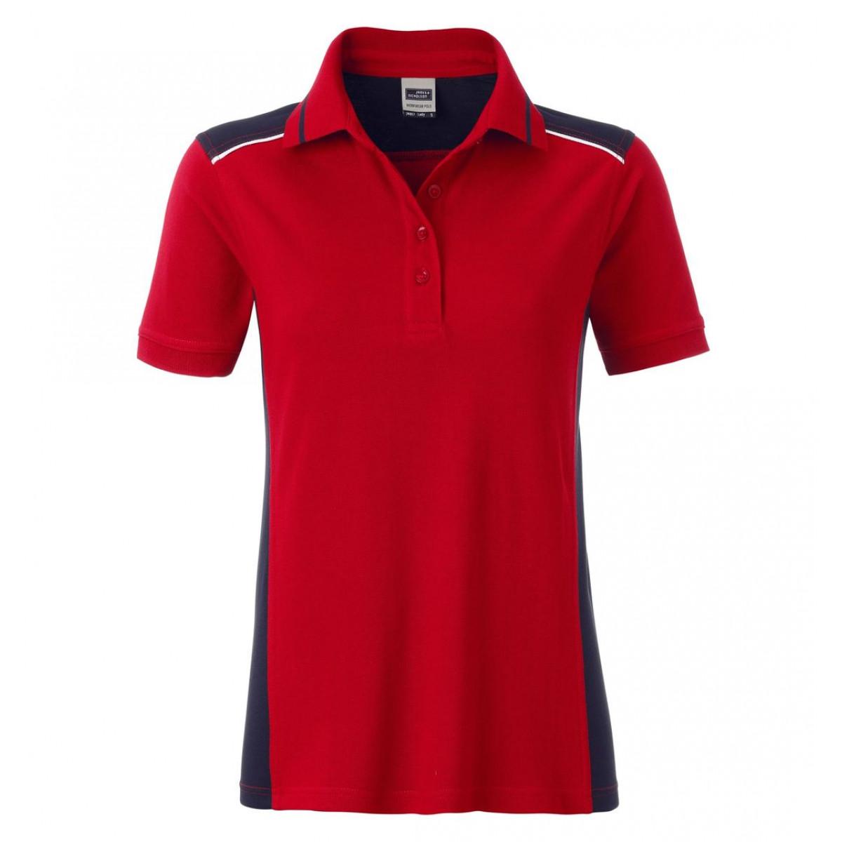 Рубашка поло женская JN857 Ladies Workwear Polo-Level 2 - Красный/Темно-синий