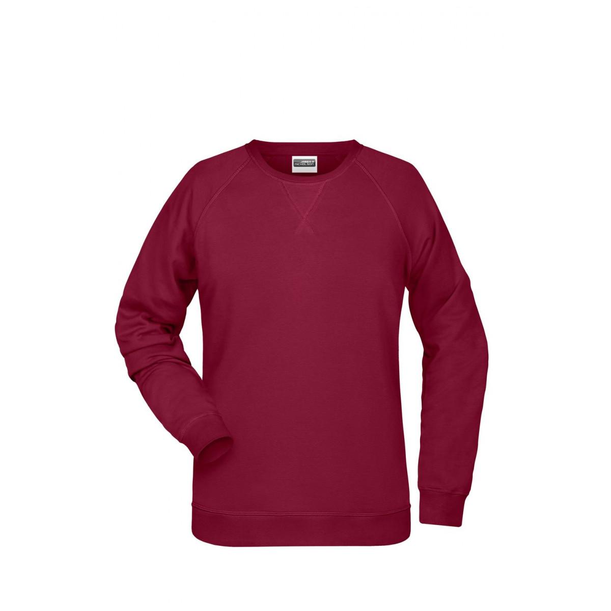 Толстовка женская 8021 Ladies Sweat - Бордовый