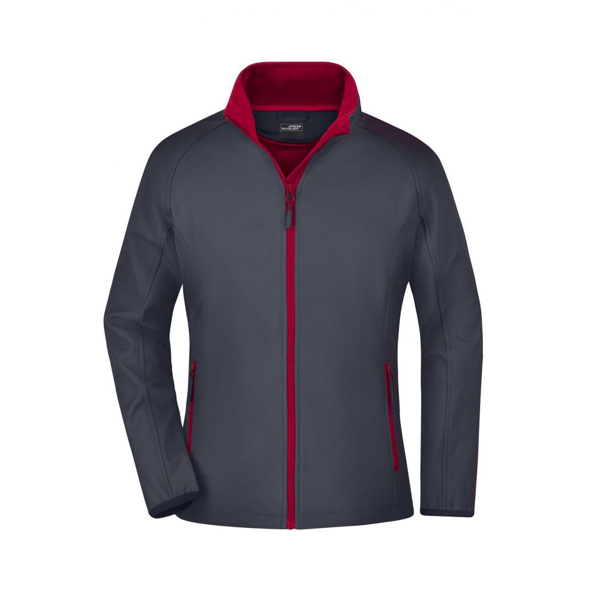 Куртка женская JN1129 Ladies Promo Softshell Jacket - Стальной/Красный