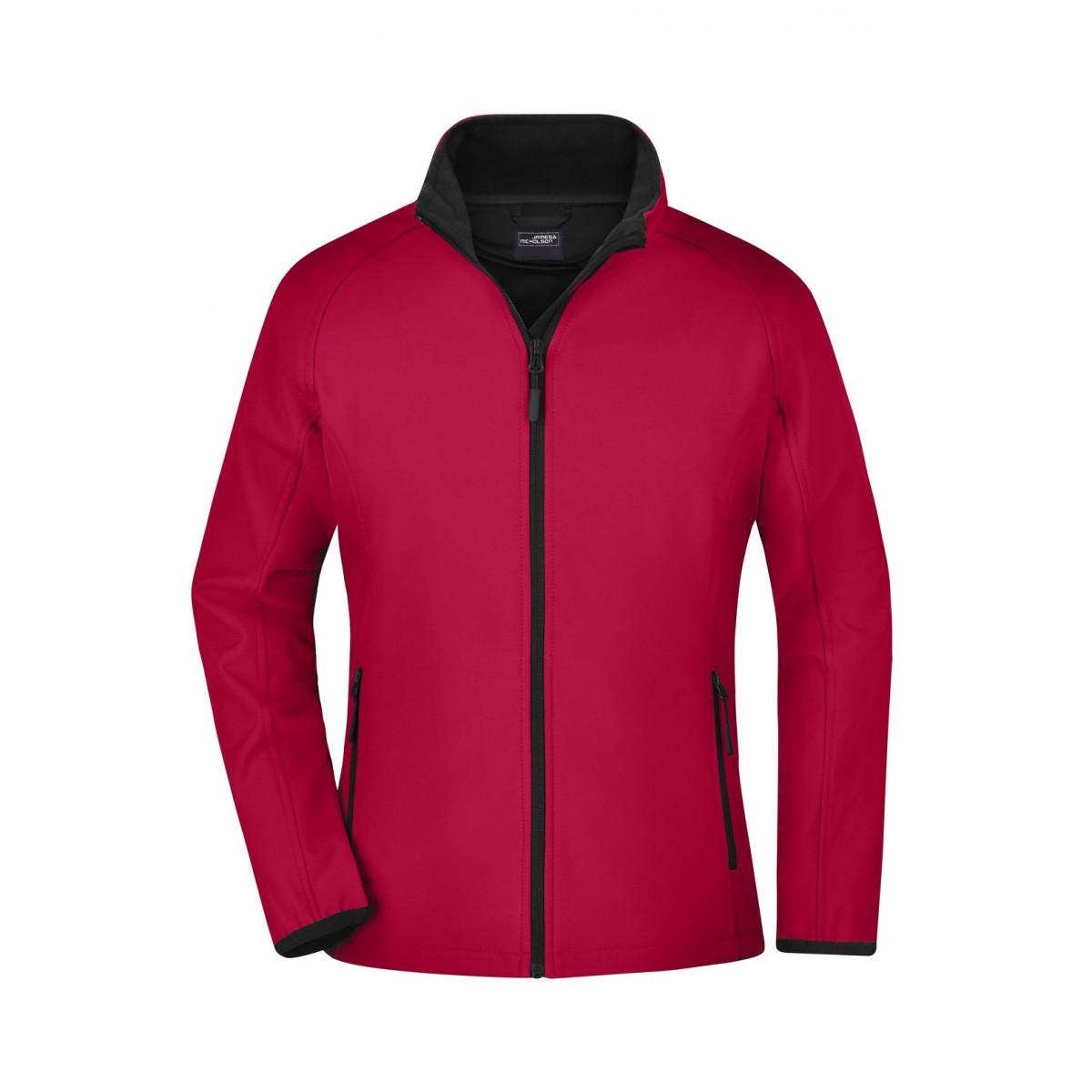 Куртка женская JN1129 Ladies Promo Softshell Jacket - Красный/Черный