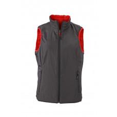 Жилет женский JN1089 Ladies' Lightweight Vest - Красный/Темно-серый