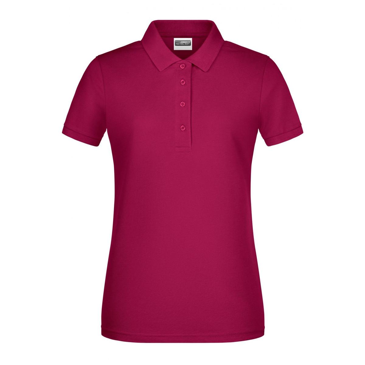 Рубашка поло женская 8009 Ladies Basic Polo - Бордовый